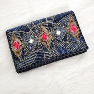 Lord & Taylor Beaded Clutch Purse